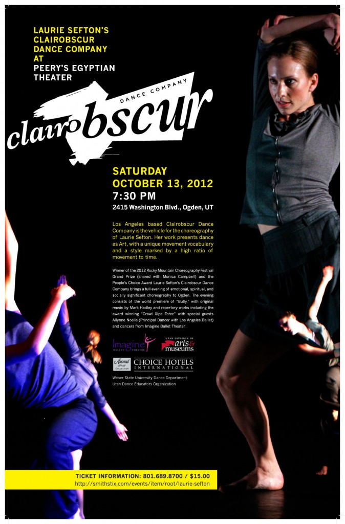 Laurie Sefton's Clairobscur Dance Company from Los Angeles. One Night Only! Don't miss it!