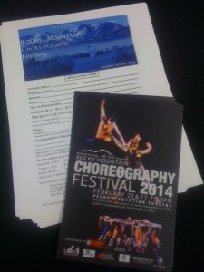 Rocky Mountain Choreography Festival 2014 Call for Choreographers!