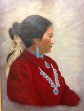 Oil Paintings of Dorothy N. V. Smith on exhibit at Imagine Ballet Theatre Studio.